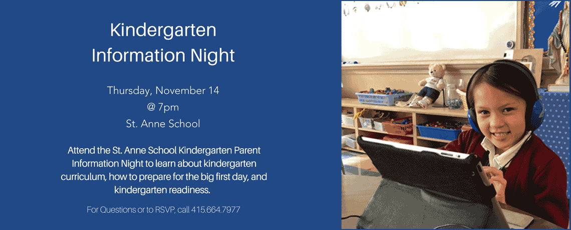 Kindergarten Information Night 2019